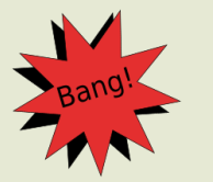 Bang, an onomatopoeic word